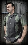 Rumble59 - Lounge Shirt - Rock'n'Roll Green