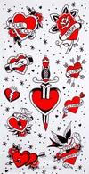 ručník - TATTOOED HEARTS