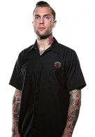 THE BARBERIA LOS MUERTOS SHORT SLEEVE WORK SHIRT BY LUCKY 13