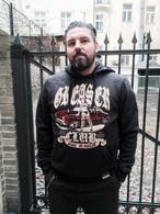 man  hoodie greaser