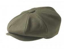 100% MELTON WOOL – MOSS GREEN NEWSBOY CAP