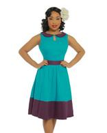 'Beattie' Turquoise Swing Dress