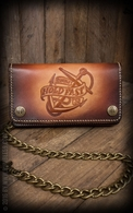 "Leather Wallet ""Anchor"" - sunburst handmade"