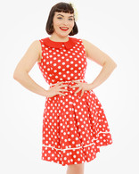 dresses red polka