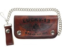 THE IRON HORSE EMBOSSED LEATHER WALLET