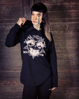 woman hoodie ,, devil in side me