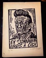 A Linoryt Ex Libris Johnny Cash