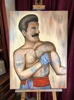 Olej na plátně , Old School Boxer ,,